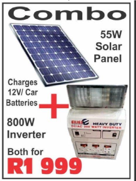 COMBO INVERTER+SOLAR PANEL GS-880