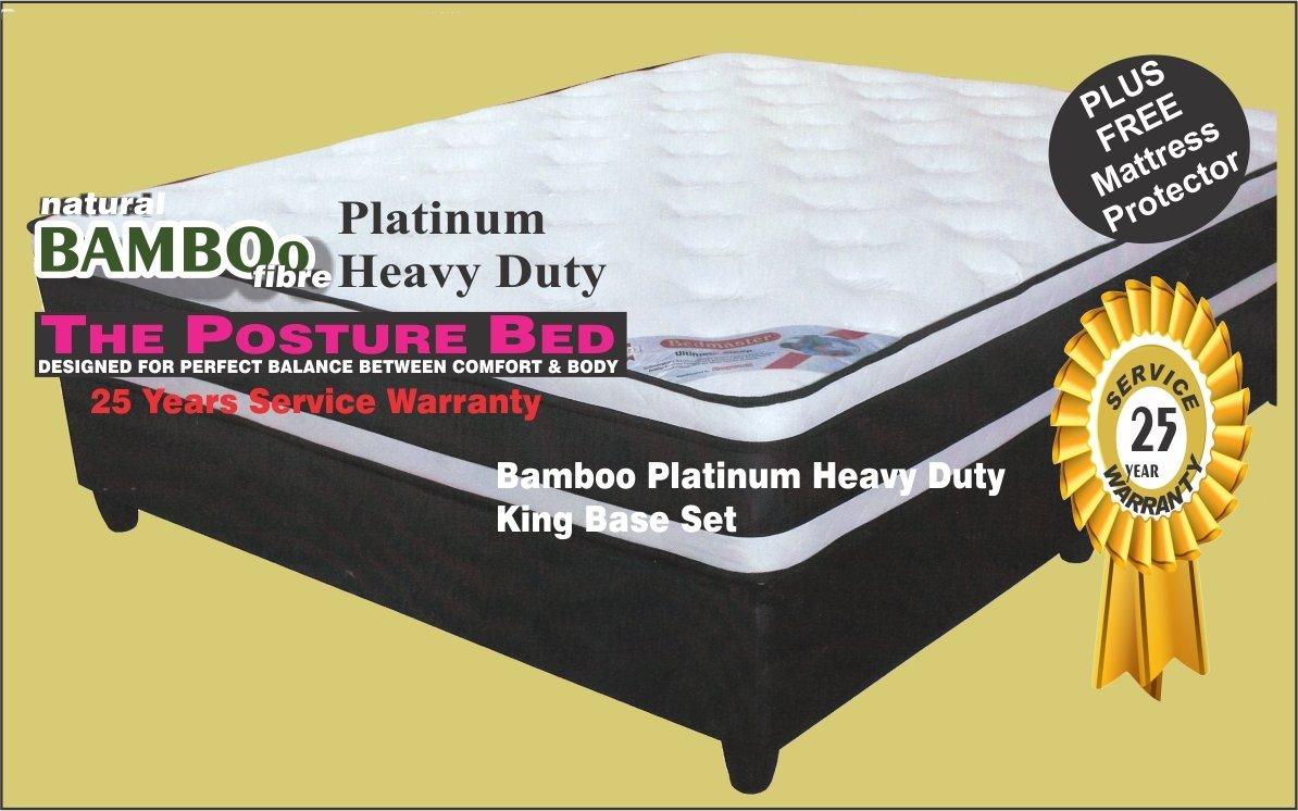R7988 vat incl Bamboo Platinum Heavy Duty King Base Set