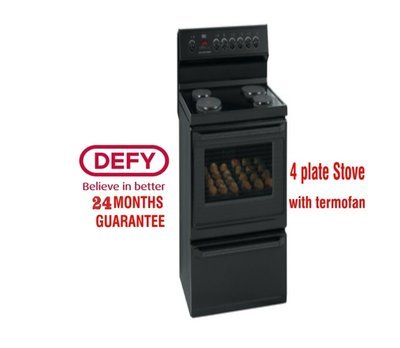 DEFY 4 PLATE KITCHENAIRE STOVE BLACK DSS494