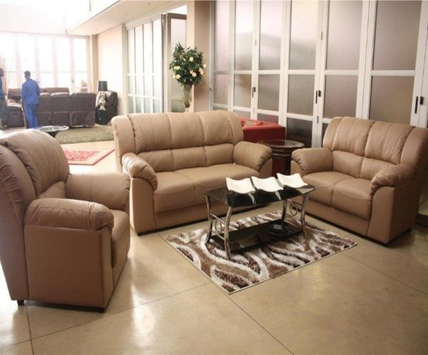 3 piece air fabric lounge suite with Trade-Inn