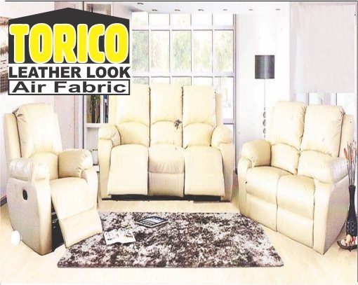 Mushroom leather look  lounge suite with Trade-Inn