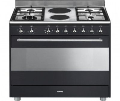 SSA92MAA9 90cm Anthracite Concert Cooker with 6 Burner Gas/Electric Hob