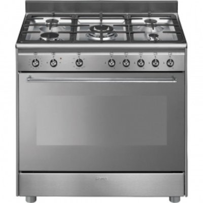 SSA91GGX9 90cm Stainless Steel Concert Full Gas Cooker with 5 Burner Gas Hob