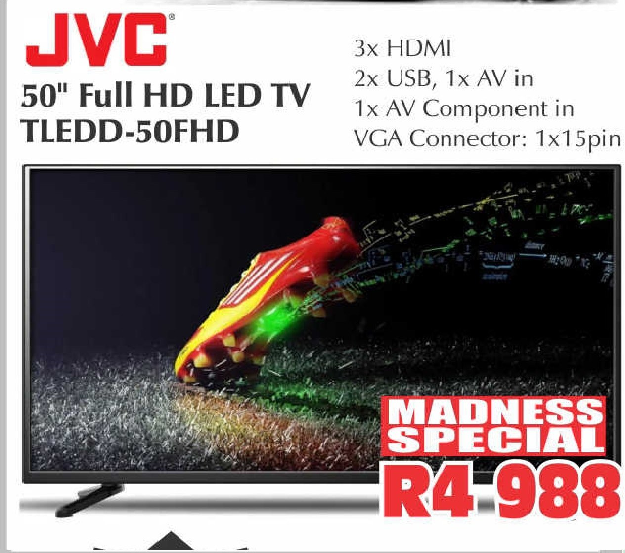 "JVC 50"" FULL HD LED TV TLEDD-50FHD"