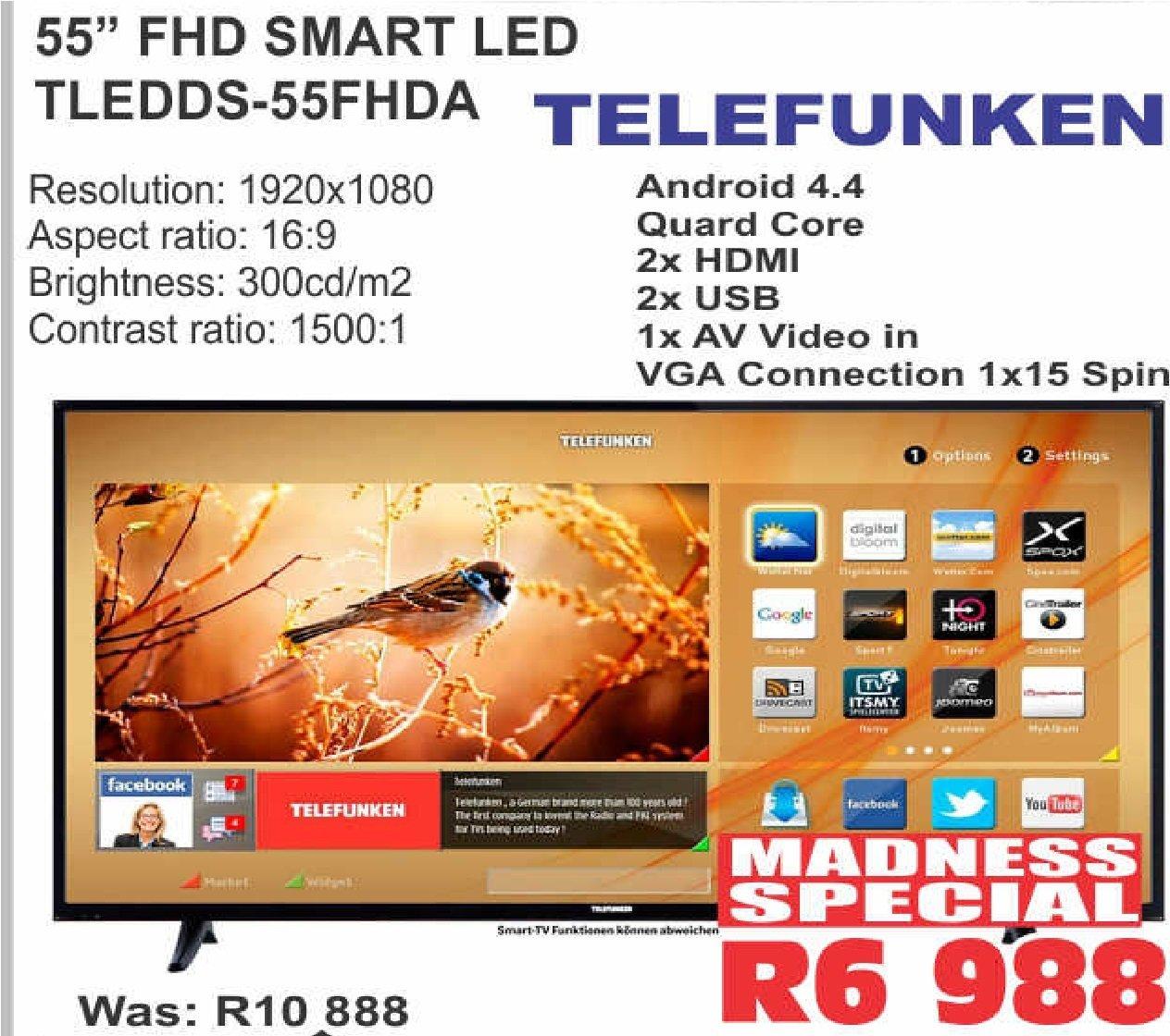 "TELEFUNKEN 55""FHD SMART LED TLEDD-55FHDA"