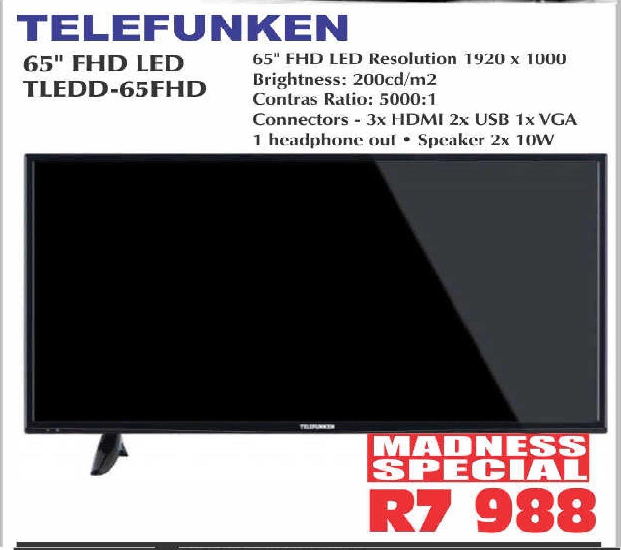 "TELEFUNKEN 65"" FHD LED TLEDD-65FHD"