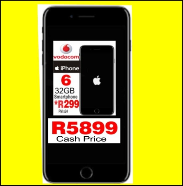 R5899 vat incl IPhone 6 32GB