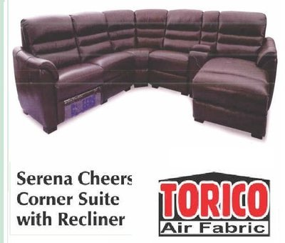 SERENA CHEERS CORNER SUITE WITH RECLINER with Trade-Inn