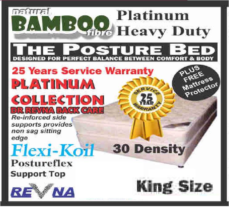 Revna Platinum heavy Duty king Size base set