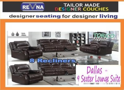 Dallas - 9 Seater Lounge Suite with Trade-Inn