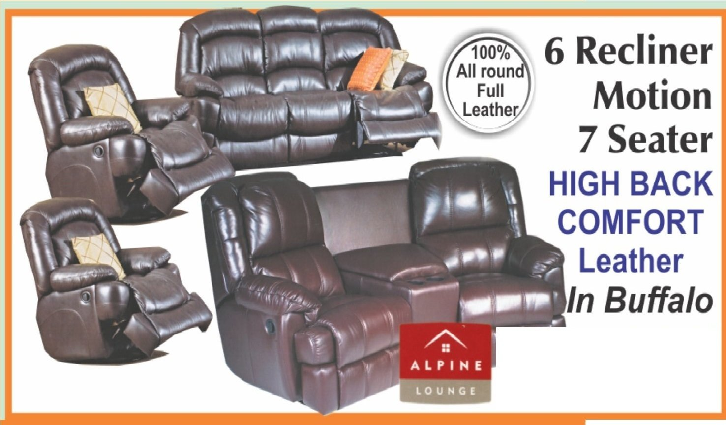 6 Recliners Motion 7 Seater with Trade-Inn