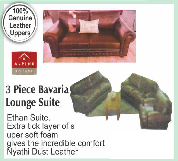 3 Piece Bavaria Lounge Suite with Trade-Inn