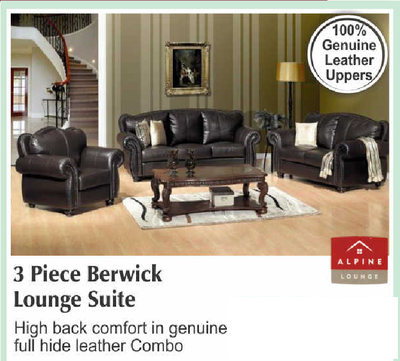 3 piece  Berweick Lounge suite with Trade-Inn