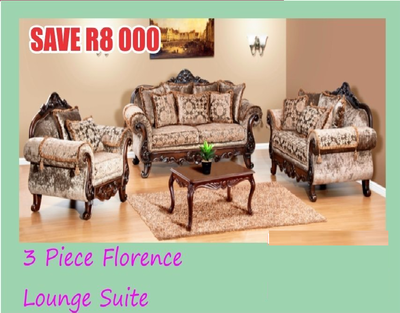3 Piece Florence Lounge Suite with Trade-Inn
