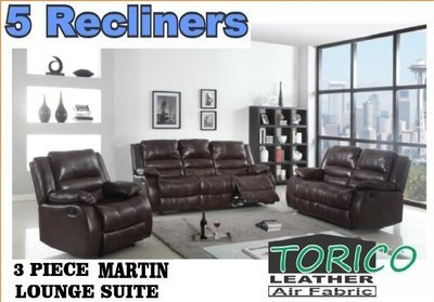 Martin 3 Piece Lounge Suite in Torico with Trade-Inn