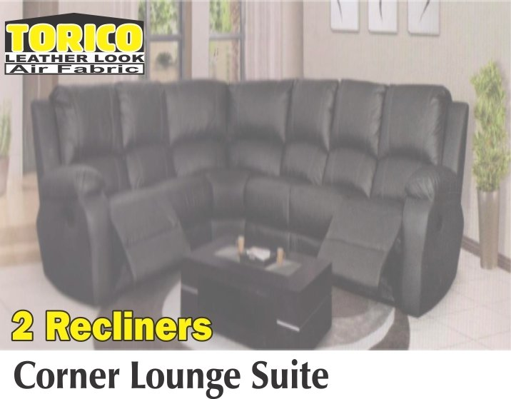 Corner Lounge Suite With 2 Recliners with Trade-Inn