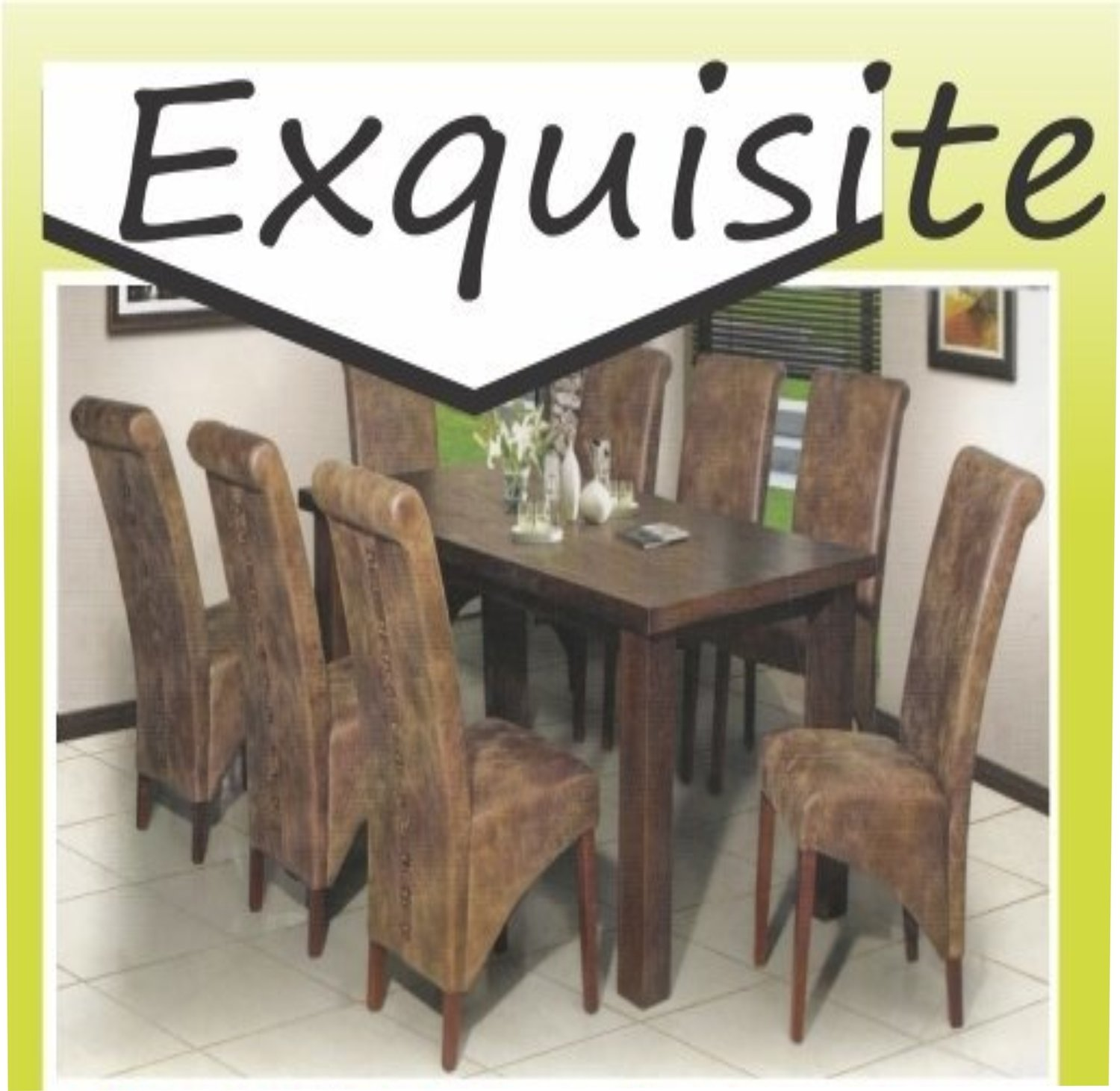 9 Piece Oslo Rectangular  Dining Table with  Combo Chairs
