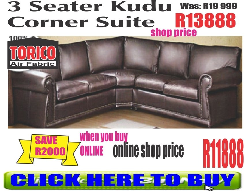 3 Seater Kudu Corner Lounge Suite