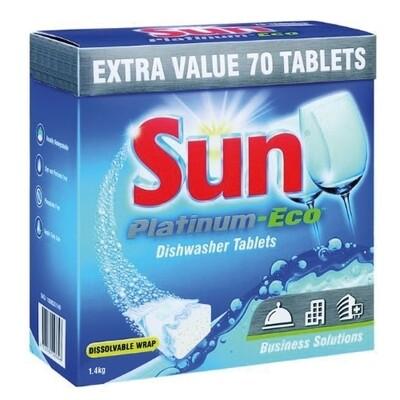 SUN PLATINUM-ECO DISHWASHER TABLETS - 70 TABLETS