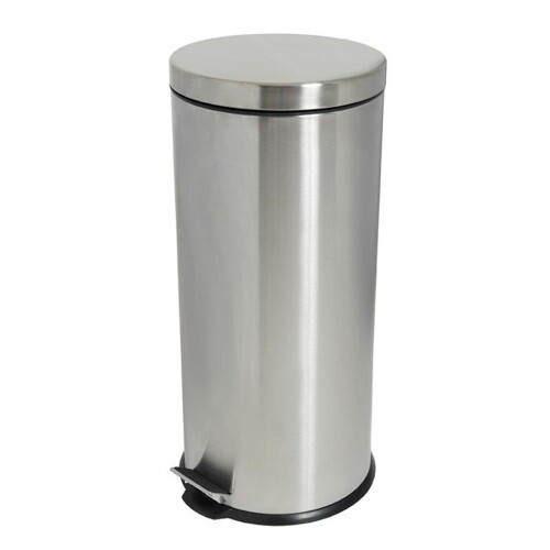 STAINLESS STEEL PEDAL BIN 30 LITRES