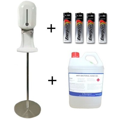 TOUCH-FREE AUTOMATIC HAND SANITISING STATION STARTER PACK