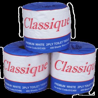 CLASSIQUE PREMIUM TOILET ROLL 2 PLY 400 SHEETS CTN 48