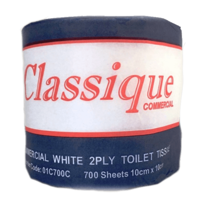 CLASSIQUE COMMERCIAL TOILET ROLLS 2 PLY 700 SHEETS CTN 48