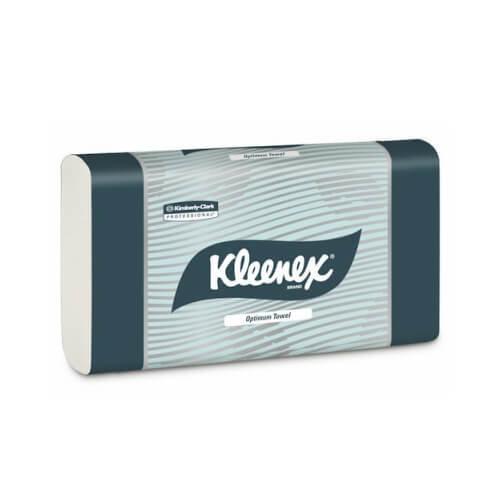 KLEENEX 4456 OPTIMUM WHITE ULTRASLIM HAND TOWEL 24CM X 30.5CM 120 SHEETS CTN 20