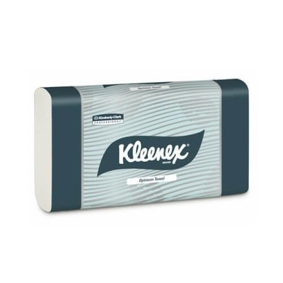 KLEENEX 4456 OPTIMUM WHITE ULTRASLIM HAND TOWEL 24CM X 30.5CM 120 SHEETS CTN 20