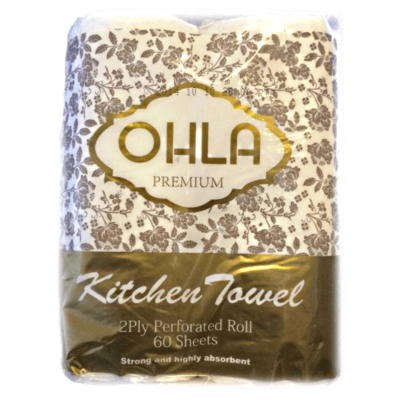 OHLA PREMIUM KITCHEN TOWEL 60 SHEETS CTN 24 ROLLS