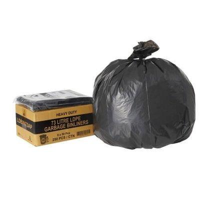 PREMIUM BIN LINER 73 LITRE HD 30UM LDPE BLACK CTN 250