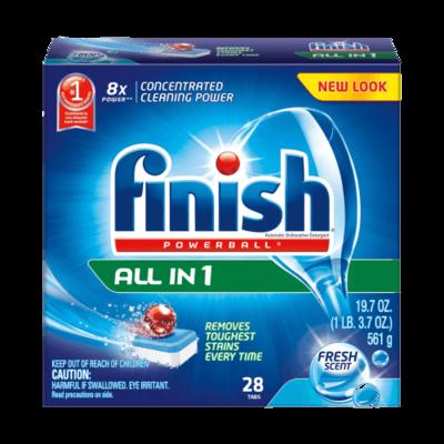 FINISH POWERBALL DISHWASHING TABLETS - 28 TABLETS