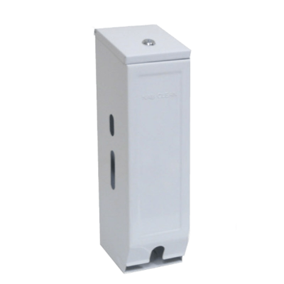 TOILET ROLL DISPENSER 3 ROLL WHITE ENAMEL