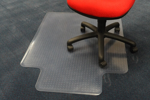 CHAIR MAT 115CM X 135CM, KEYHOLE STYLE WITH ANCHORS