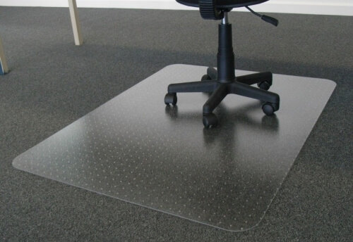 CHAIR MAT 120CM X 134CM, POLYCARBONATE WITH ANCHORS
