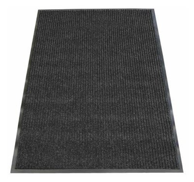 ENTRANCE MAT RIBBED 90CM X 60CM PEPPER
