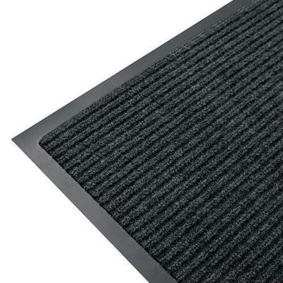 RIBBED ENTRANCE MAT 150CM X 90CM PEPPER