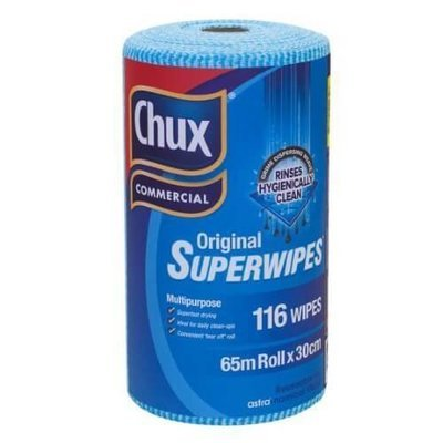 CHUX 9316 ORIGINAL SUPERWIPES PERFORATED 30CM X 65M ROLL