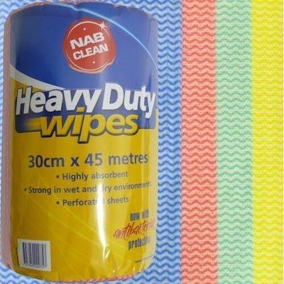 HEAVY DUTY WIPES BLUE 30CM X 45M ROLL