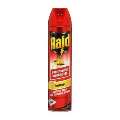 INSECT SPRAY RAID RESIDUAL SURFACE SPRAY 450G