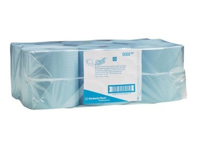 SCOTT 6668 HARD ROLL TOWEL BLUE 1 PLY 304M CTN 6 ROLLS