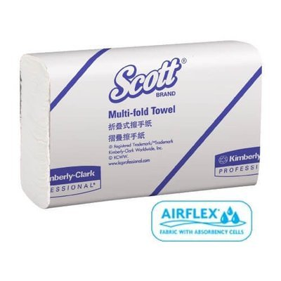 SCOTT 13207 WHITE SLIMTOWEL 24CM X 23.5CM 250 SHEETS CTN 16