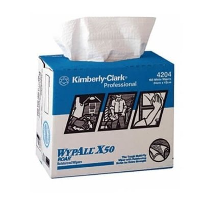 WYPALL 4204 X50 WHITE POP-UP WIPERS CTN 4 BOXES X 160 WIPERS