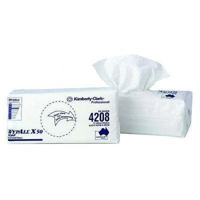 WYPALL 4208 X50 WHITE WIPERS CTN 8 PACKS X 75 WIPERS