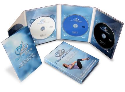 3 DVD Set - RehabZone Low Back Pain & Core Exercise Plan
