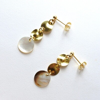 Tiny shell earrings — smart casual, style, accessories