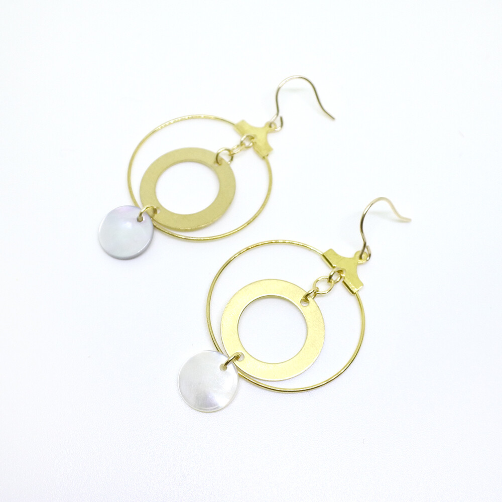 Round earrings — smart casual, style, accessories