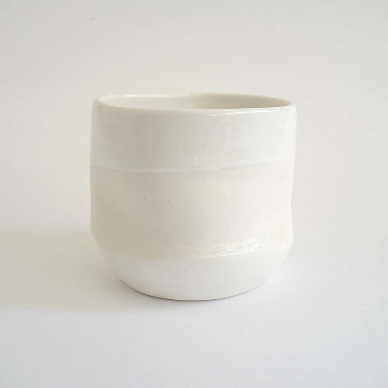 Free style - cup, porcelain, white, handmade, coffee, gift, tea