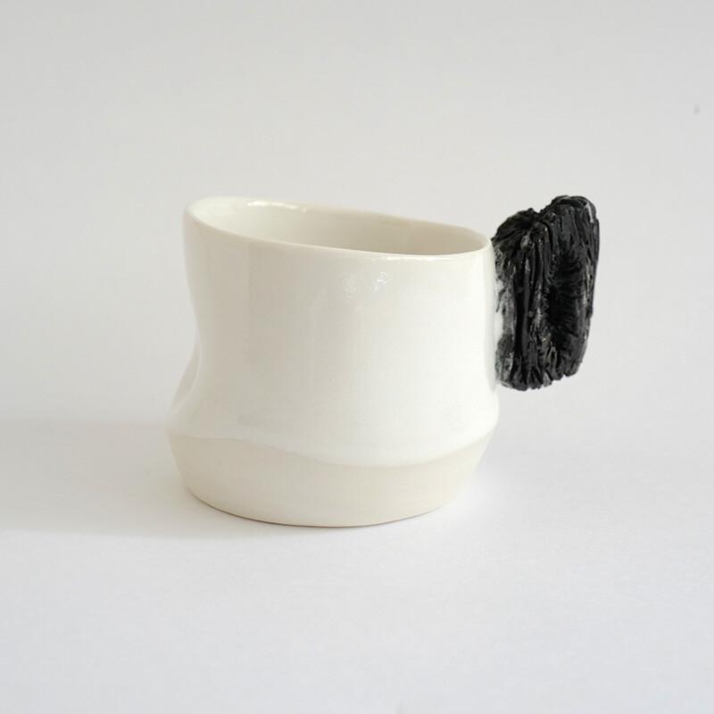 Carbon-based Life - blackandwhite, porcelain, handmade, coffee lovers, gift, espresso