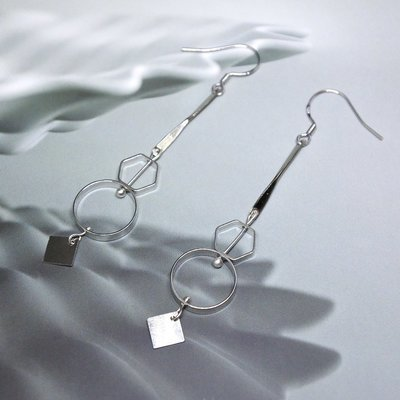 Form III - On sale, Earrings, stainless steel, 925 Silver Fish hook, light weight, fashion accessories